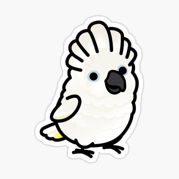 Chubby Umbrella Cockatoo Sticker