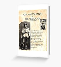 Calamity Jane of Deadwood Greeting Card