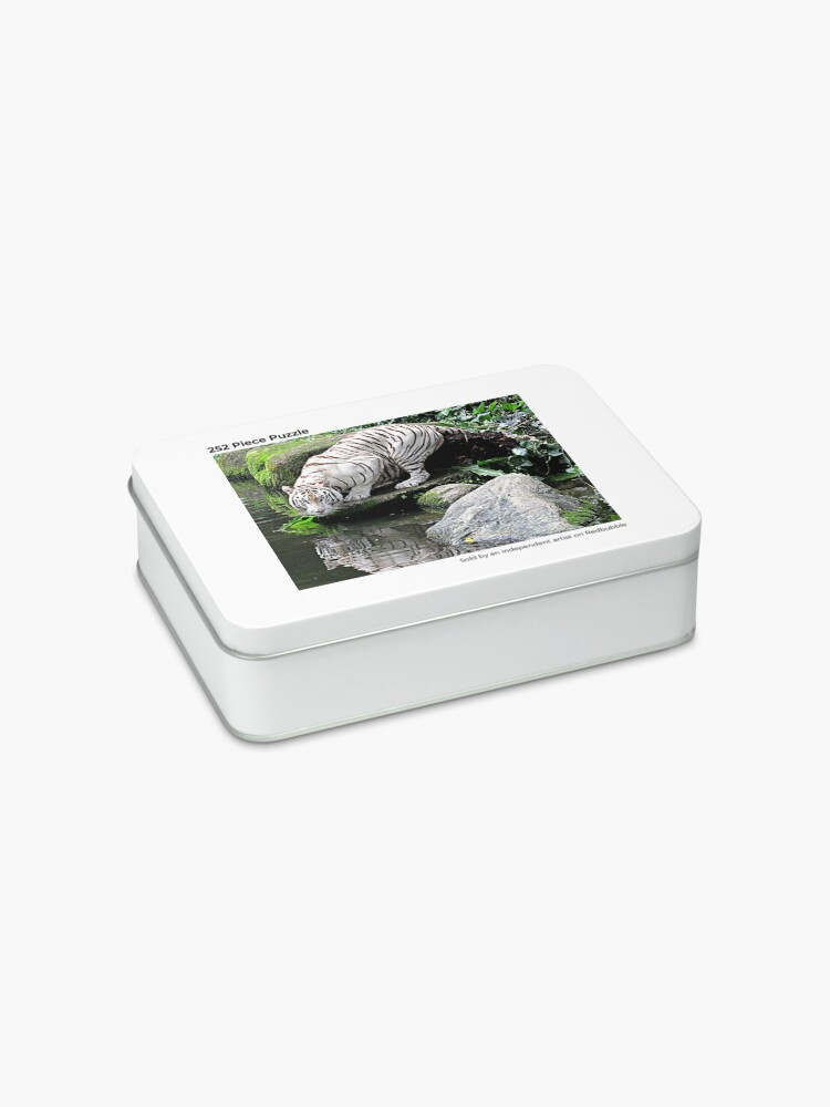 Alternate view of White Tiger and Reflection Jigsaw Puzzle
