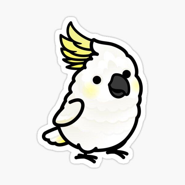 Chubby Sulphur-crested Cockatoo Sticker