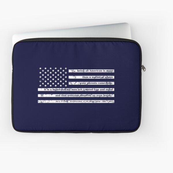 Truman on Being American Laptop Sleeve