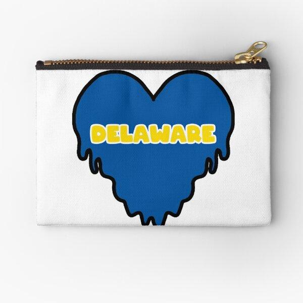Delaware Dripping Heart Zipper Pouch
