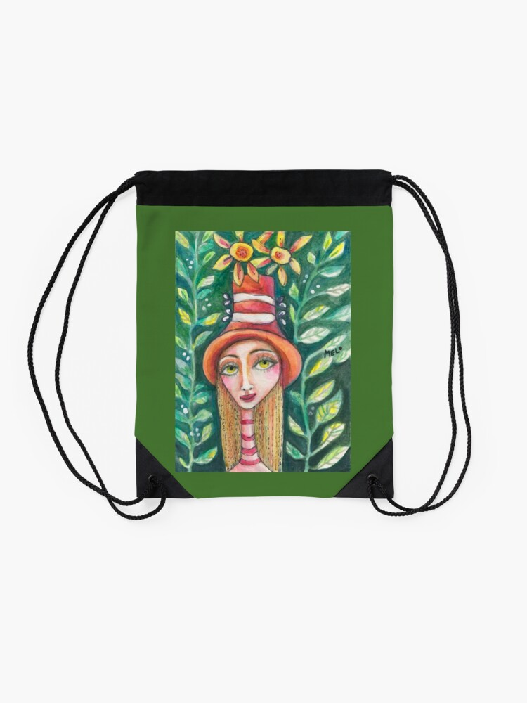 Alternate view of The Fall Girl Drawstring Bag