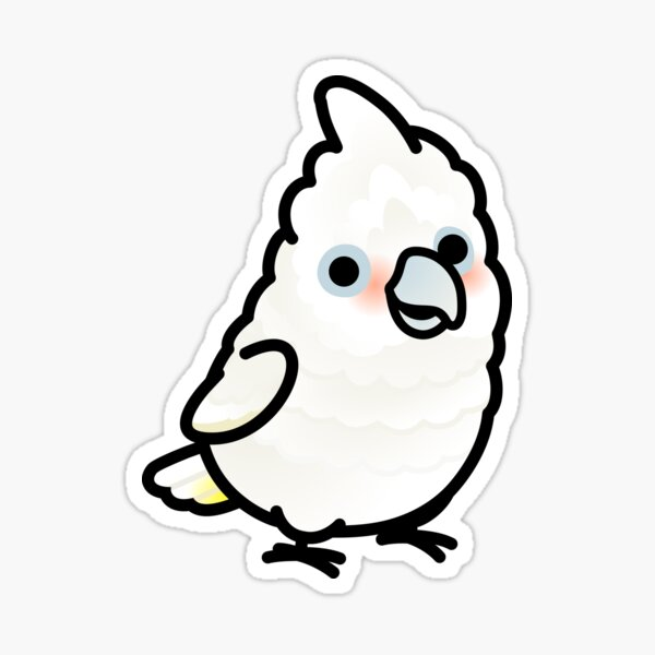 Chubby Goffin's Cockatoo Sticker