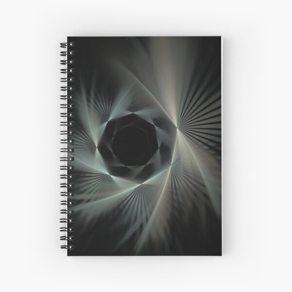 Spiraling Into The Night Spiral Notebook