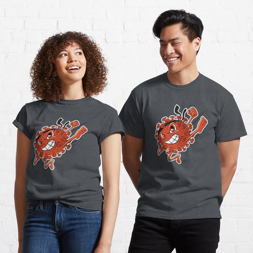 Red Covid Karate WTFBrahh  Classic T-Shirt