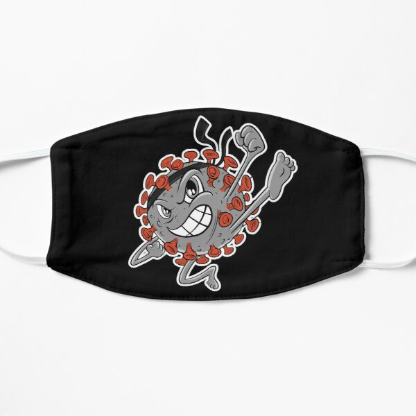 Grey Covid Karate WTFBrahh  Flat Mask
