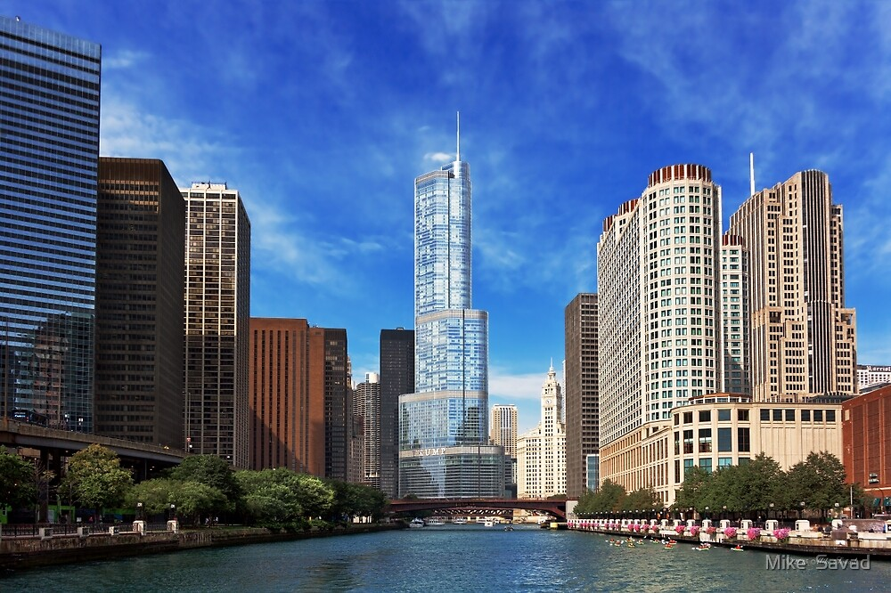 City - Chicago IL - Trump Tower  by Michael Savad