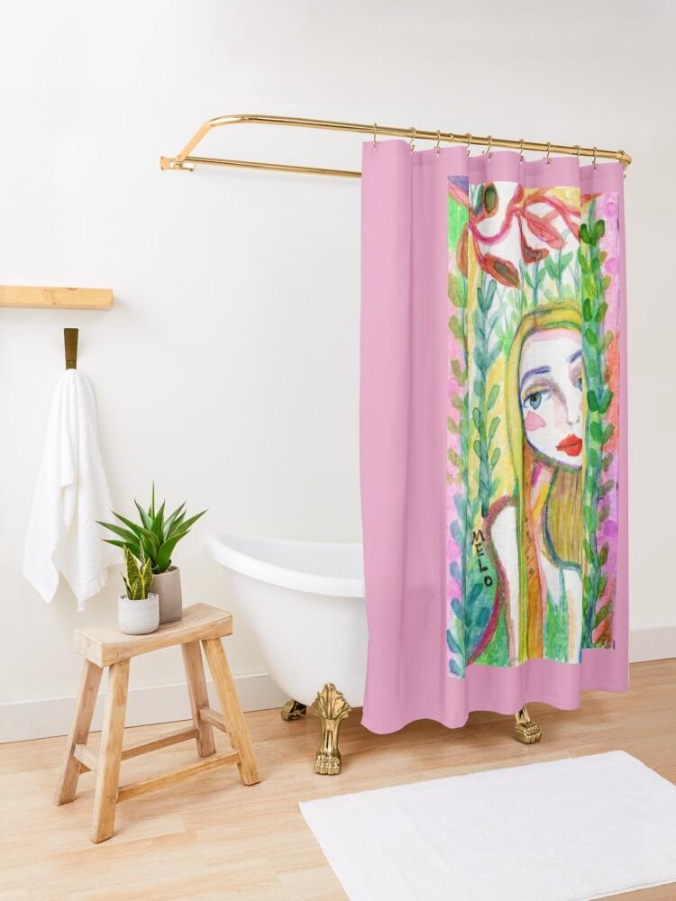 Alternate view of Dreamer Shower Curtain