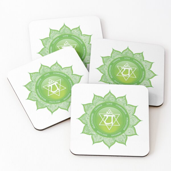 Heart Chakra Mandala - 49 GWBG Coasters (Set of 4)