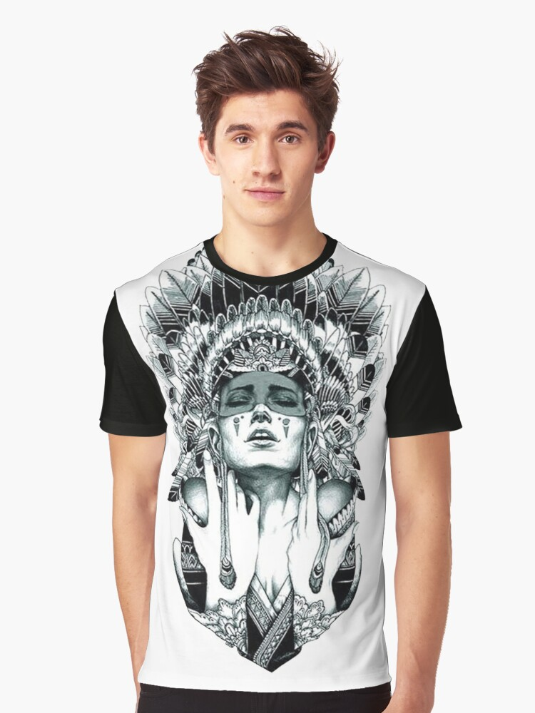 Indian Warrior Graphic T-Shirt Front
