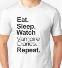 Eat. Sleep. Watch Vampire Diaries. Repeat. Unisex T-Shirt