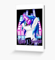 MLP Vinyl Scratch: For The Love Of Music Greeting Card