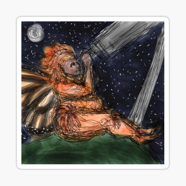 Orange Cosmos Fairy Sticker