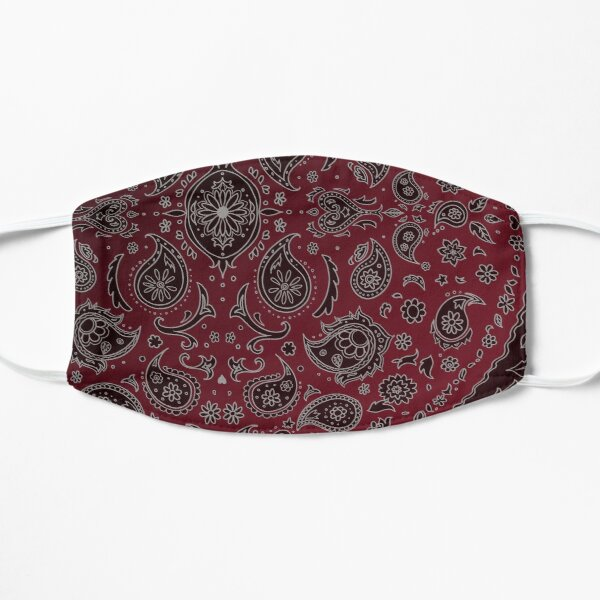 Daisies and Paisley - Red Flat Mask