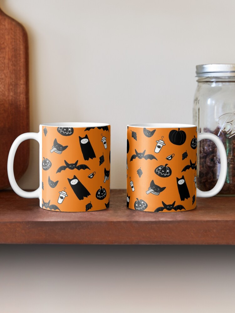 Alternate view of Spooky Halloween Cats and Coffee Mug