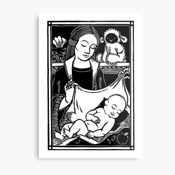 Madonna of the Wipes Metal Print