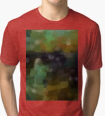 Abstract Nature Landscape Green Tri-blend T-Shirt