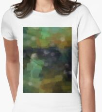 Abstract Nature Landscape Green Womens Fitted T-Shirt