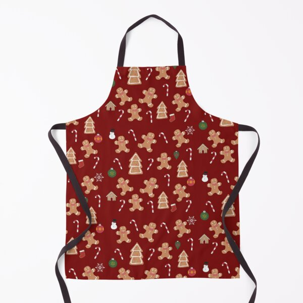 Christmas gingerbread cookies. Holiday treats and ornaments Apron