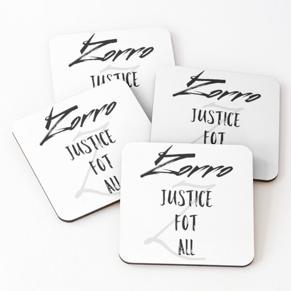 Zorro Gerechtigkeit für alle Untersetzer (4er Set)