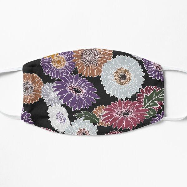 Gerbera Floral Black Flat Mask