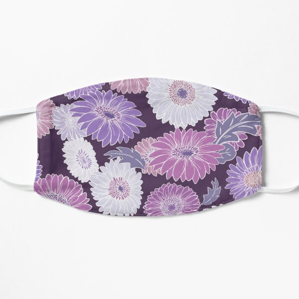 Gerbera Floral Purple Flat Mask