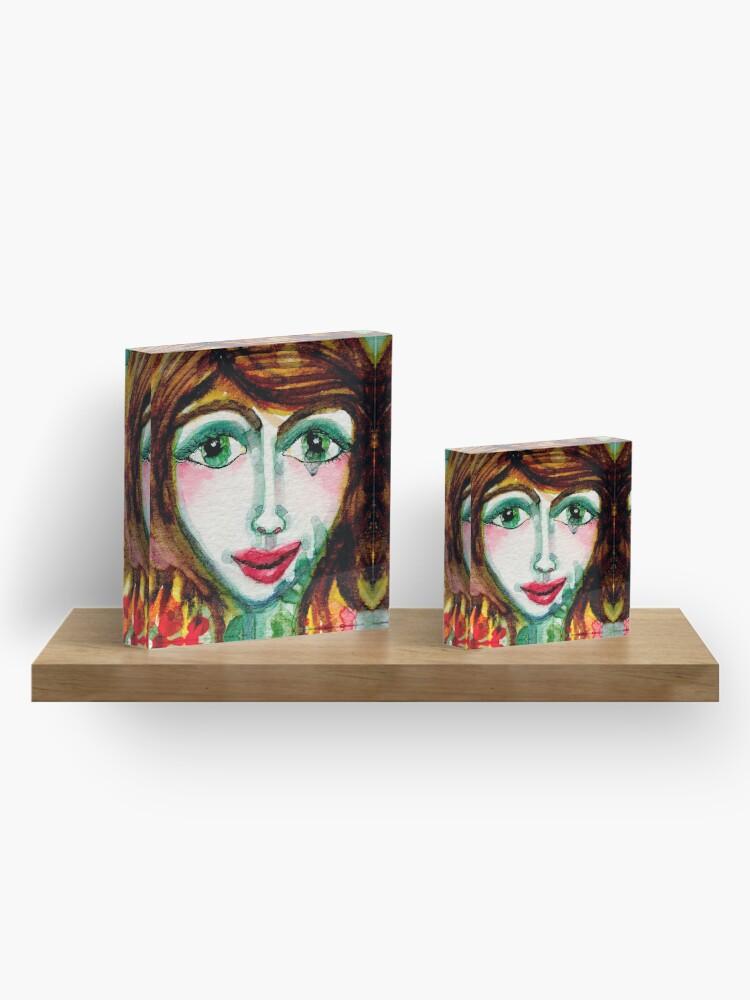 Alternate view of Flower Girl  Acrylic Block