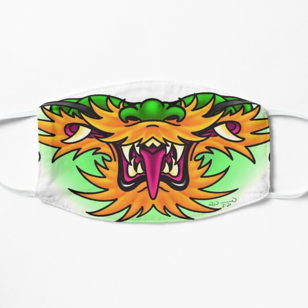 dragon mask Flat Mask