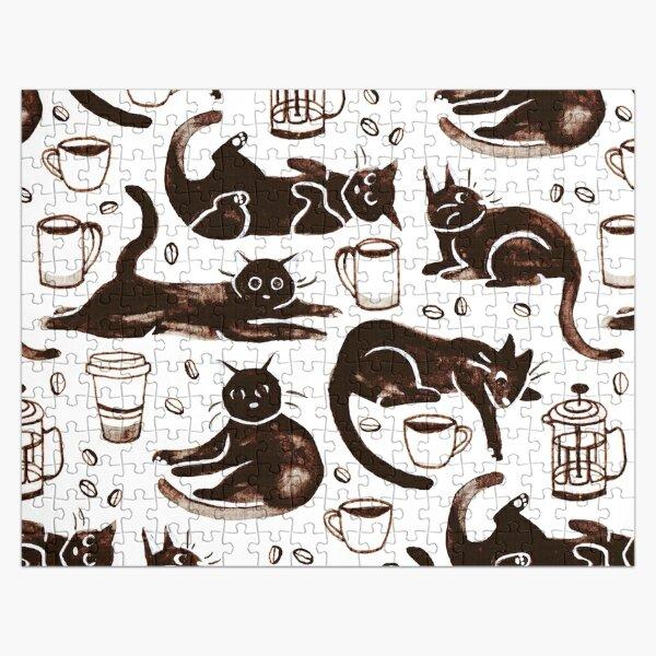 Gouache Black Cats & Coffee Jigsaw Puzzle