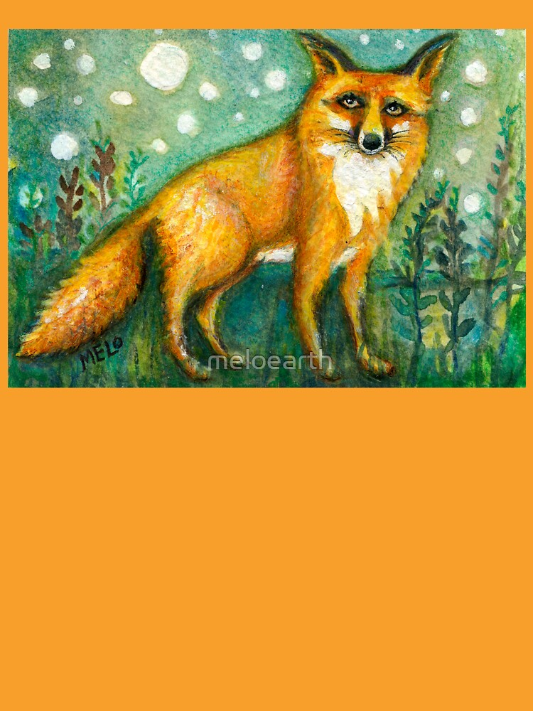 Portrait of Wise Fox, Wildlife art by meloearth