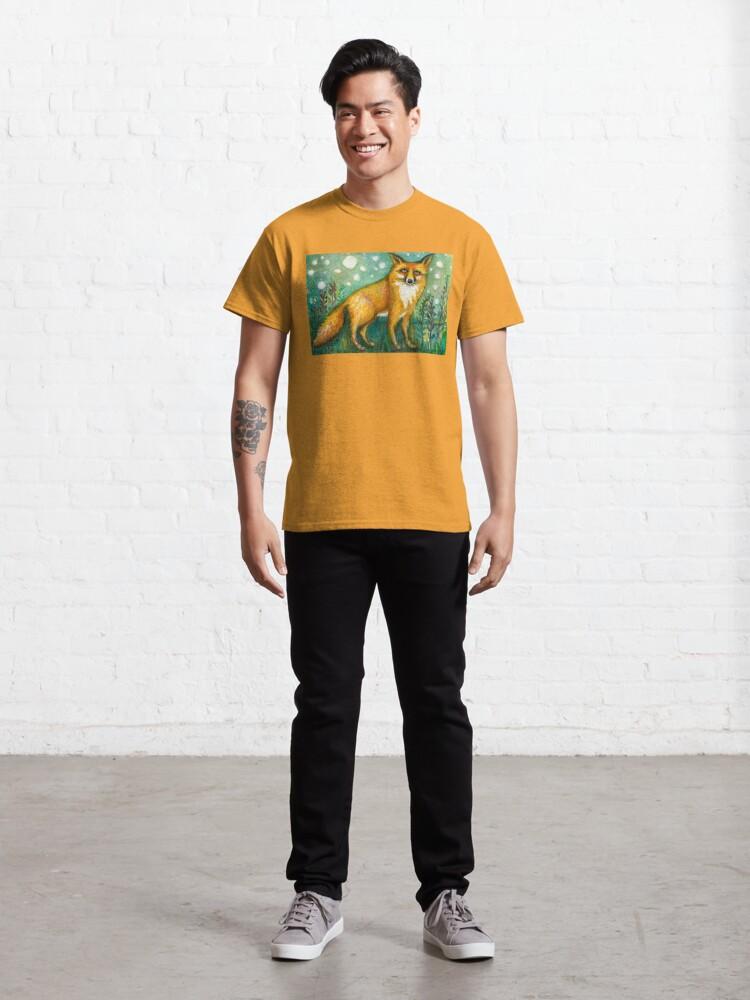 Alternate view of Portrait of Wise Fox, Wildlife art Classic T-Shirt