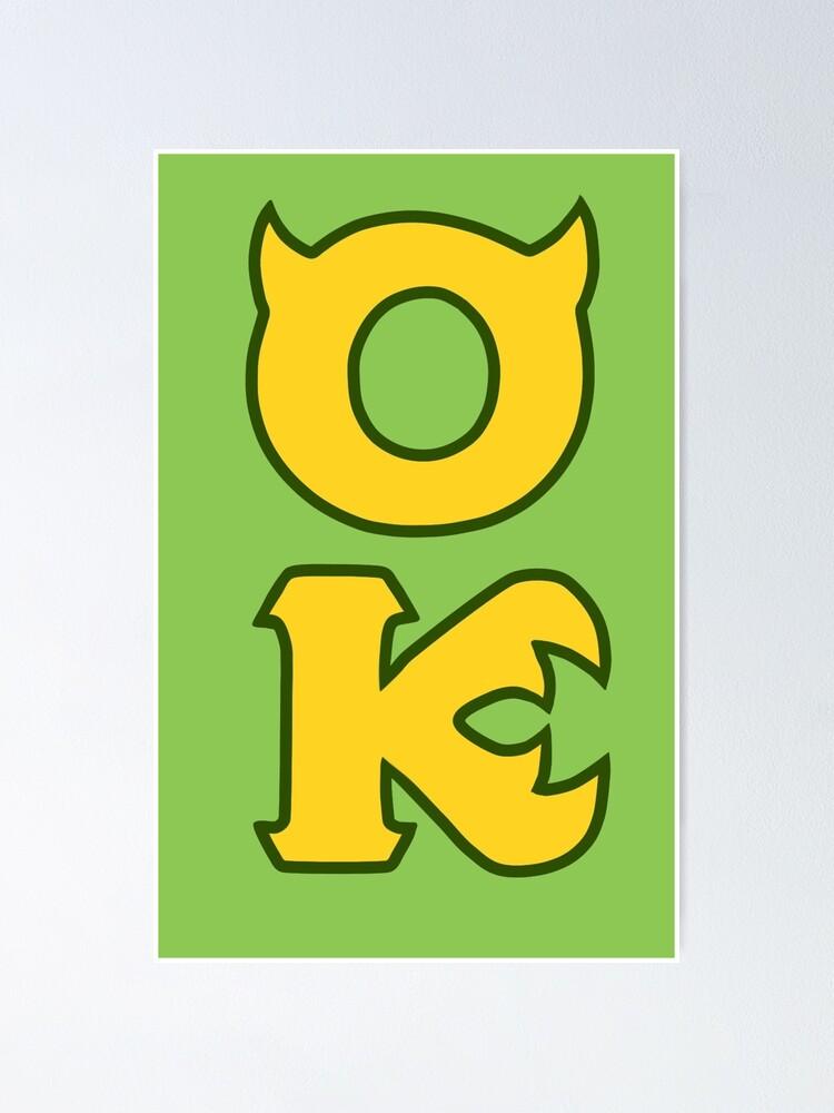 Monsters U Oozma Kappa Poster By Escaramari Redbubble