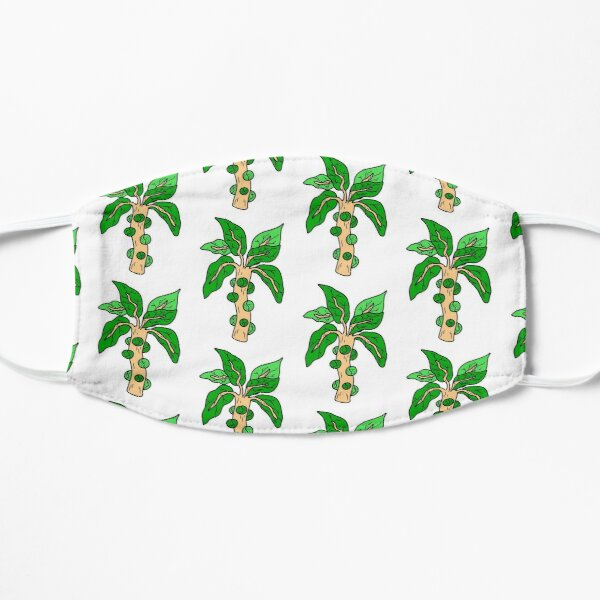 Cool Brussels Sprouts Illustration Flat Mask