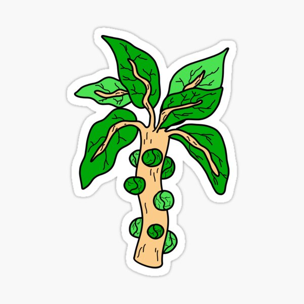 Cool Brussels Sprouts Illustration Sticker