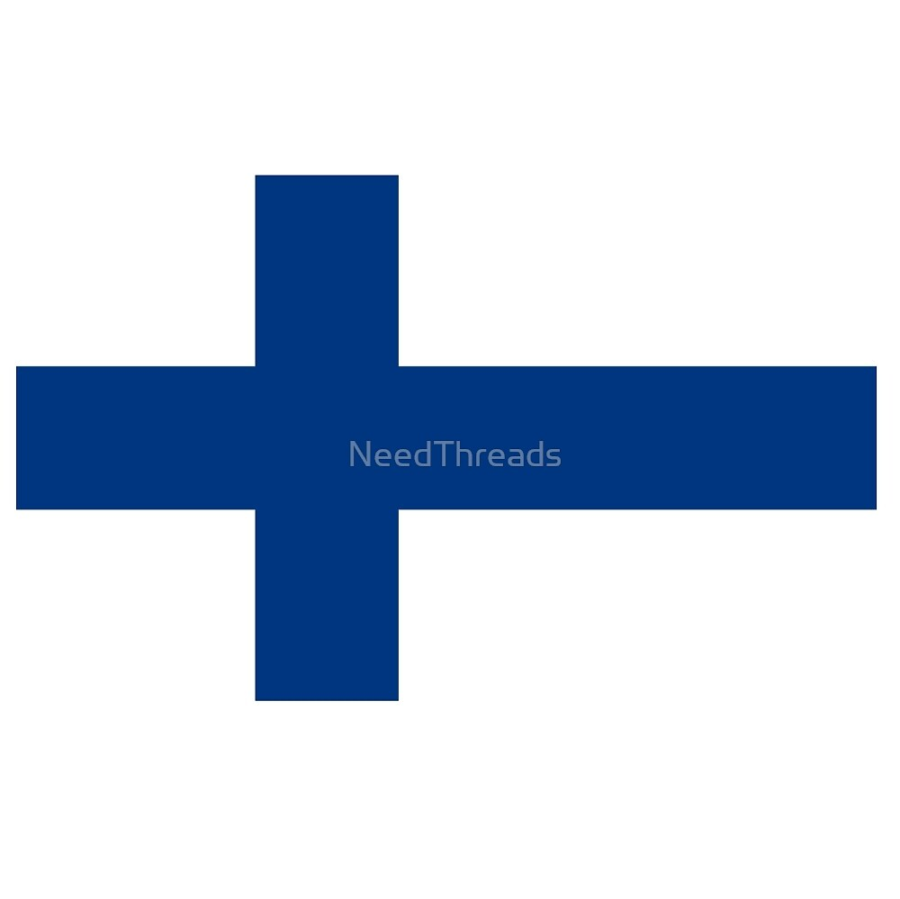 Finland Flag by NeedThreads