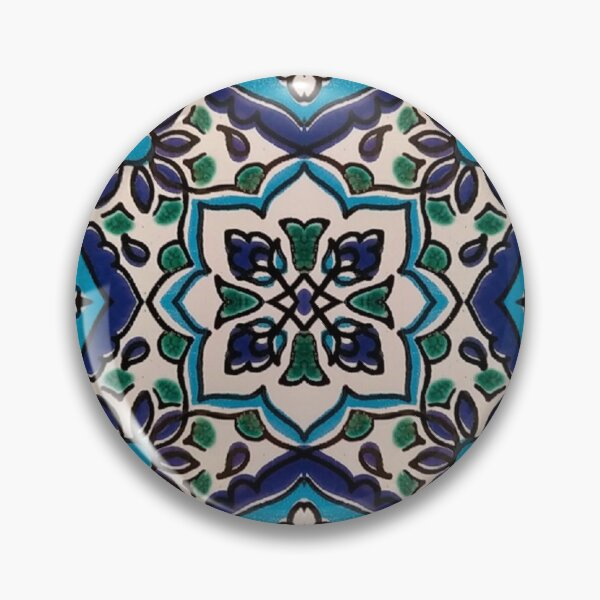 Original Tunisian blue mosaic tiles Pin