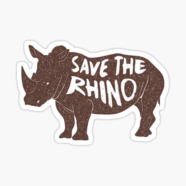 SAVE THE RHINO  Sticker