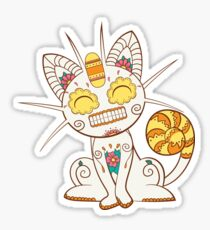 Meowth Pokemuerto | Pokemon & Day of The Dead Mashup Sticker