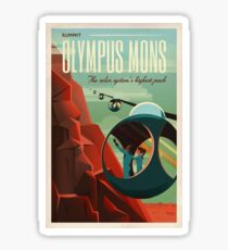 THE VOLCANO OF MARS - Olympus Mons | Space | X | Retro | Vintage | Futurism | Sci-Fi Sticker