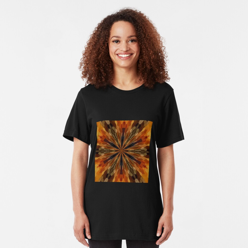 Falling Leaves Slim Fit T-Shirt