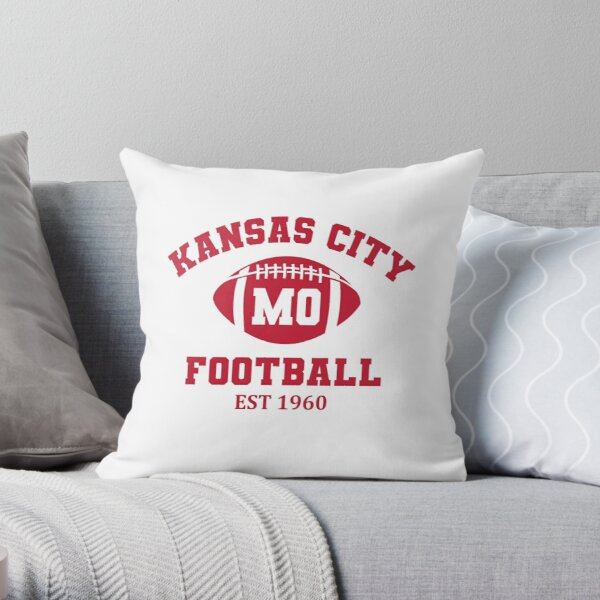Kansas City Football Est 1960 Vintage Throw Pillow
