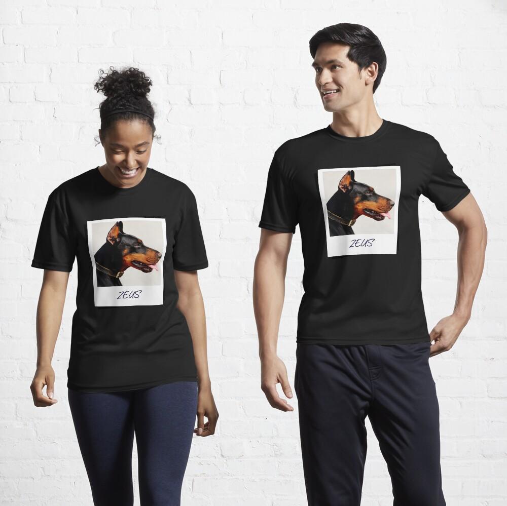 Doberman Zeus Design Active T-Shirt
