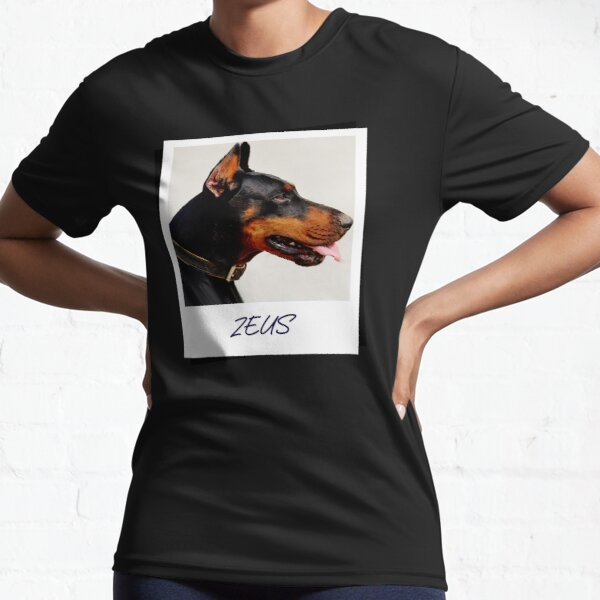 Doberman Zeus Design Active T-Shirt