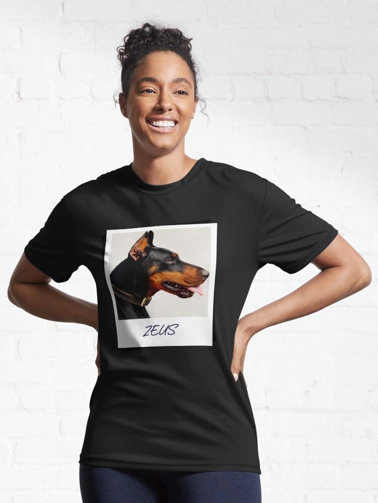 Alternate view of Doberman Zeus Design Active T-Shirt