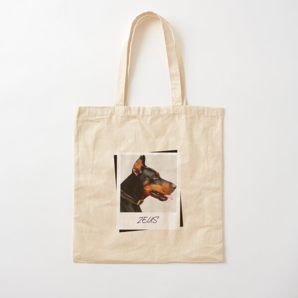 Doberman Zeus Design Cotton Tote Bag