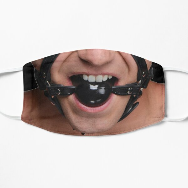 Ball Gag Face Male Gay Funny Flat Mask