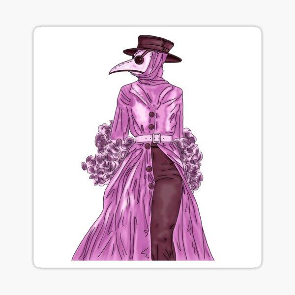 Plague Doctor Femme Sticker