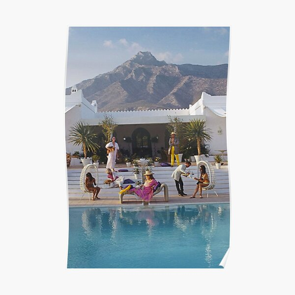 What To Wear To a Slim Aarons Party in Spain Poster
