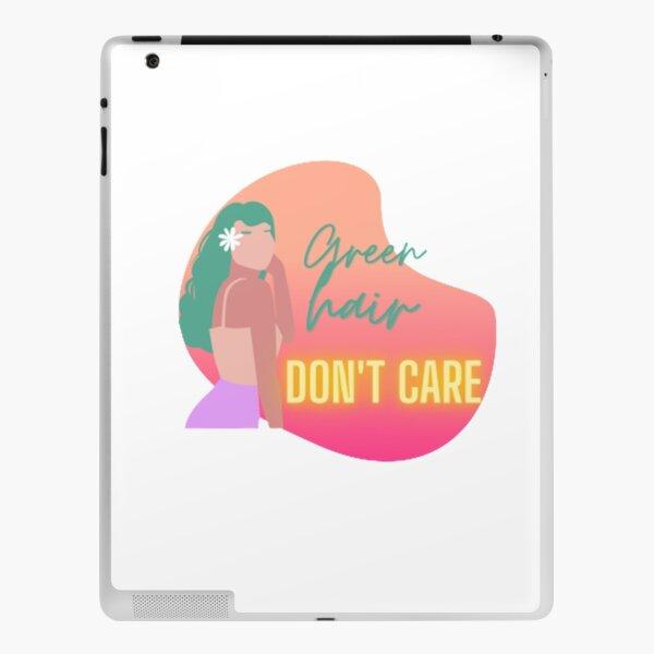 Green hair, don't care! iPad Skin